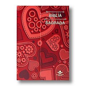 BÍBLIA NA043LM CORAÇÃO CAPA DURA VERMELHA