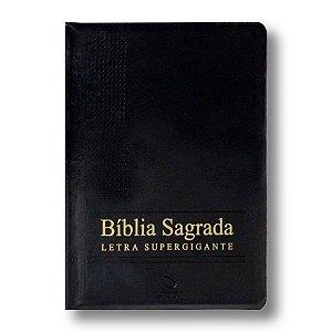 BÍBLIA NA085TILSGILVZ LETRA SUPERGIGANTE CAPA PRETA COM ZÍPER E ÍNDICE