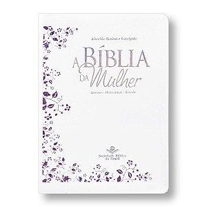 BÍBLIA DA MULHER ARC057 LUXO BRANCA