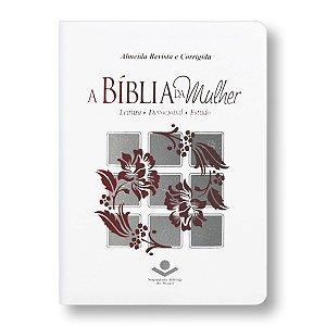BÍBLIA DA MULHER ARC057BMW BRANCA BEIRAS FLORIDAS