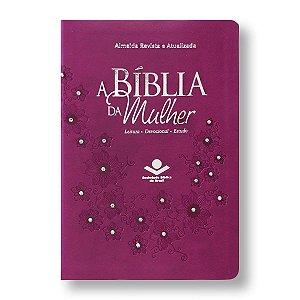 BÍBLIA DA MULHER RA065BMRA2 3 CAPA VINHO COM PEDRAS