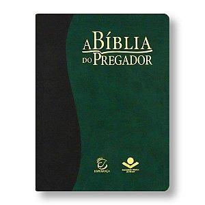 BÍBLIA DO PREGADOR RA085 CAPA CINZA ESCURO / VERDE
