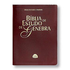 BÍBLIA DE ESTUDO DE GENEBRA RA087 - VINHO - EDIÇÃO REVISTA E AMPLIADA