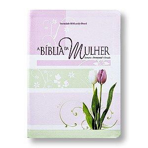 BÍBLIA DA MULHER RA057BM LUXO / TULIPAS