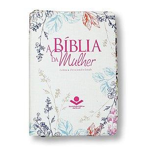 BÍBLIA DA MULHER RA065TIZ ÍNDICE ZÍPER IMPRESSA