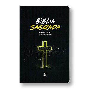 BÍBLIA AEC SEMI-LUXO CRUZ NEON