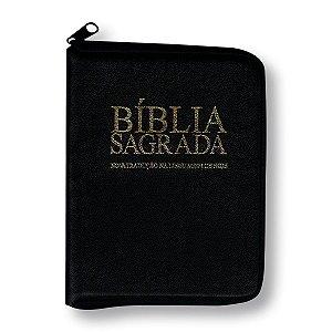 BÍBLIA NTLH44TIZE COM ZÍPER - CAPA PRETA E ÍNDICE