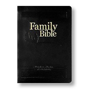 FAMILY BIBLE KING JAMES KJV065 CAPA PRETA - BÍBLIA DA FAMILIA EM INGLÊS