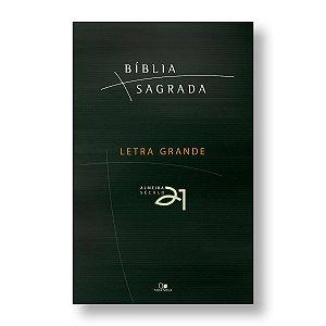 BÍBLIA ALMEIDA 21 BROCHURA LETRA GRANDE CAPA VERDE