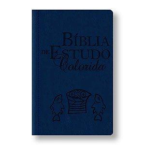 BÍBLIA DE ESTUDO COLORIDA AZUL