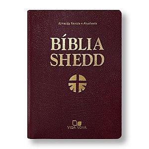 BÍBLIA DE ESTUDO SHEDD COVERTEX BORDÔ