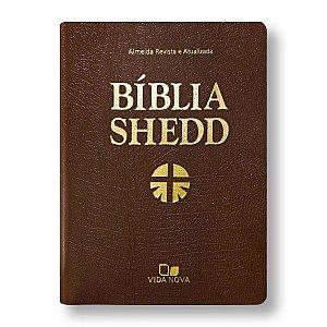 BÍBLIA DE ESTUDO SHEDD COVERTEX MARROM