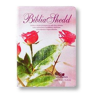 BÍBLIA DE ESTUDO SHEDD COVERTEX FEMININA FLORES