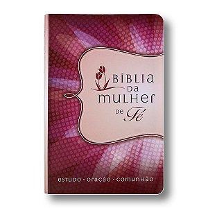 BÍBLIA DA MULHER DE FÉ - LUXO CAPA MARGARIDA