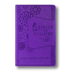 BÍBLIA DA MULHER DE FÉ - LUXO CAPA ROXA