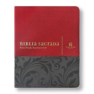 SUA BÍBLIA CAPA VERMELHA / CINZA - COM ESPAÇO PARA ANOTAÇÕES