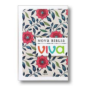 NOVA BÍBLIA VIVA CAPA BROCHURA FLORAL