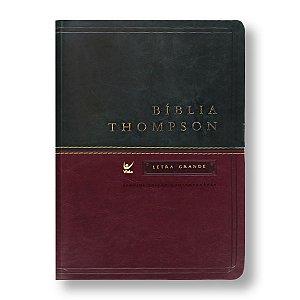 BÍBLIA THOMPSON LETRA GRANDE VERDE / VINHO