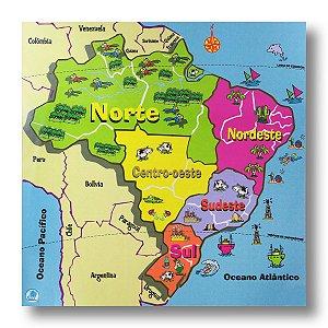 QUEBRA-CABEÇA MAPA REGIÕES DO BRASIL
