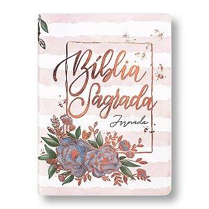 BÍBLIA NA083JR JORNADA COM MARGEM CAPA LUXO AQUARELA