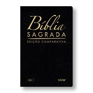 BÍBLIA COMPARATIVA RC-NVI LUXO GRANDE CAPA PRETA