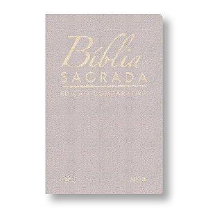 BÍBLIA COMPARATIVA RC-NVI LUXO GRANDE CAPA BEGE