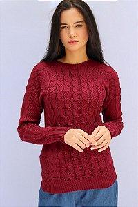 Blusa tricô tranças