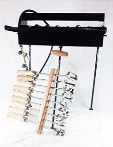Kit 1 fogareiro de 12 + 1 Jogo de números até 7cm