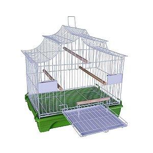 Gaiola para Pássaros Quatiguá Japonesa Verde para Calopsitas