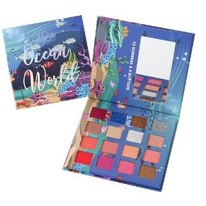 Paleta de Sombras e Glitters Ocean World Mylife Cosméticos