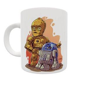 Caneca Coleção Star Wars - R2D2 e C3PO