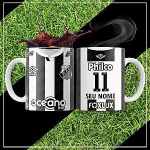 Caneca Times de Futebol - Santos