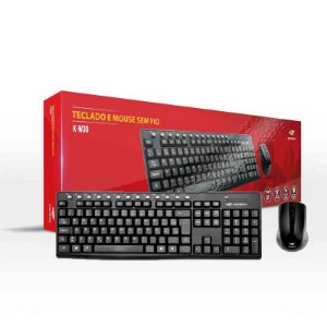 Kit Teclado e Mouse C3Tech Sem fio K-W30