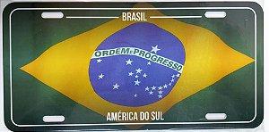 Placa bandeira Brasil