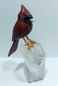 Escultura pássaro cardeal-do-norte
