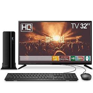 "Computador TV 32"" PC Intel Core i5 8GB 500GB HDMI Áudio EasyPC Play"