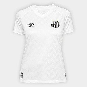 Camisa Santos I 20/21 S/N° Umbro Feminina Torcedor - Branca