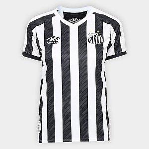 Camisa Santos Of II 20/21 s/n° Umbro Feminina - Branco e Preto