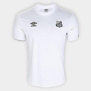 Camiseta Santos Concentração 20/21 Umbro Masculina - Branco e Preto