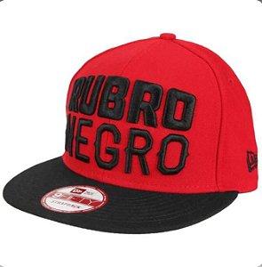 Boné Flamengo New Era Rubro Negro 950 Aba Reta Masculino - Vermelho