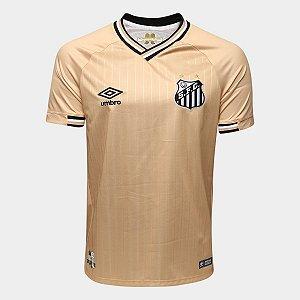 Camisa do Santos III Uniforme Dourada 2018