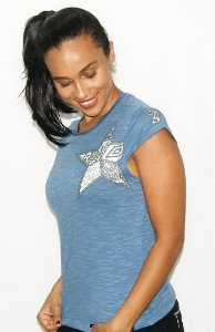 Camisa Santos Feminina Algodão Umbro Star Azul