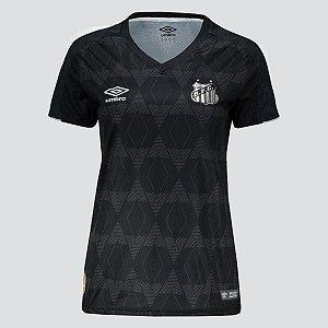 Camisa Santos III 19/20 S/N Umbro Feminina Preta