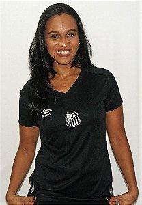 Camisa Santos Goleiro 2019 Umbro Feminina Preta