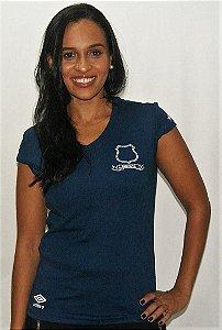 Camisa Santos Umbro Feminina Algodão Azul Marinho