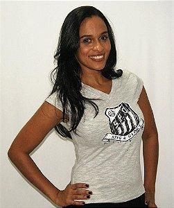 Camisa Santos Feminina Algodão Umbro King & Glory Cinza Mescla
