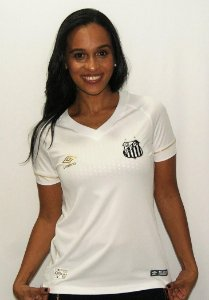 Camisa Santos I 2018 Feminina Umbro Branca