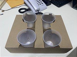 Suporte  de papelão capacidade para 4 copos