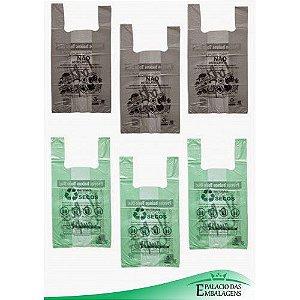 Sacolas Biodegradável 45x55