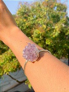 Bracelete Drusa de Ametista